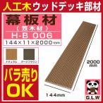 ウッドデッキ 人工木材 樹脂 幕板材 笠木材 H-B006 144×11×2000mm