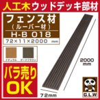 ウッドデッキ 人工木材 樹脂 フェンス材 ルーバー材 H-B018A 72×11×2000mm