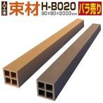 ウッドデッキ 人工木材 樹脂 束材 H-B020 90×90×2000mm グッドライフウッドの画像