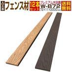 人工木材 ウッドデッキ 木目調 プレミアムフェンス材 ルーバー材 W-B72 12本セット 72×11×2000mm グッドライフウッドの画像