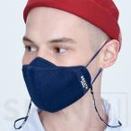 メーカー直営店 BREATH SPORTS MASK PRO ブレススポーツマスクプロ ネイビー 1袋(1枚入り)、ネックレス1個入り PM2.5・花粉・飛沫・UV99%カット/抗菌消臭99%