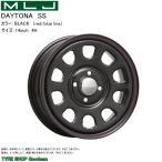 MLJ デイトナSS ブラック(赤・青ライン) 14×5.0J インセット 42 4穴 P.C.D 100 (ホイール単品)(軽自動車)