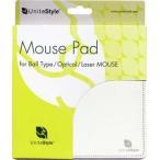 ショッピングマウス UniteStyle USMPMW(マウスパッド・ミルクホワイト・ボール/光学/レーザー3方式対応)