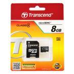 トランセンド8GB【microSDHCカードTS8GUSDHC4】CLASS4・SDHCアダプタ付・Transcend