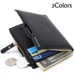 二つ折り財布 財布 二つ折り 2つ折り 小銭入れ メンズ財布 二つ折り財布 メンズ 全3色 短財布 札入れ カードポケット 写真入れ【メール便限定・代引不可】