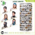 【メール便 送料無料】【虫除け】High UV Protection Buff Insect Shield No.105844_LOGO WHITE【バフ/ネックウォーマー/バンダナ】