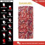 【メール便 送料無料】High UV Protection Buff No.108586_SAMUEL【バフ/ネックウォーマー/バンダナ】