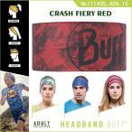 【メール便 送料無料】HEADBAND BUFF No.111495.409.10_CRASH FIERY RED【バフ/ネックウォーマー/バンダナ】