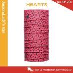 【メール便 送料無料】(junior&lady's size)High UV Protection Buff No.811200 HEARTS【バフ/ネックウォーマー/バンダナ】