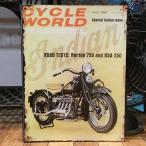ブリキ看板 サイクルワールド 1967 アメリカン雑貨