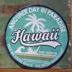 アンティーク エンボスプレート ANOTHER DAY IN PARADISE ブリキ看板 HAWAII インテリア