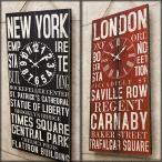 掛け時計 レトロ ウォールクロック ステンシル風 バスロールサイン int-ak-5k085new NEWYORK