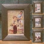 レトロ ミニ ピクチャーフレーム ポストカード 写真立て ウッデン フォトフレーム