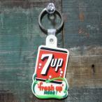 ラバー キーホルダー 7UP セブンアップ キーリング アメリカン雑貨
