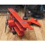 ブリキのおもちゃ 飛行機 複葉機 フォッカー