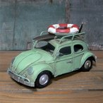ブリキのおもちゃ ノスタルジックデコ ワーゲンビートル 自動車 アンティーク レトロ
