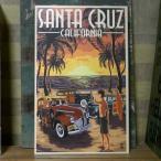 ウエストコーストウッドプラーク カリフォルニア Santa Cruz インテリア 木製看板