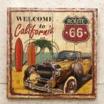 ルート66 カリフォルニア ウッドボード インテリア 木製看板 Welcome