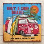 サーフバス ウッドボード インテリア 木製看板   Pacific Coast