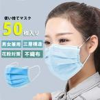 マスク 使い捨て セット 50枚セットフィルター 大人用 3層 不織布 男女兼用 ウイルス 花粉 飛沫 ほこり メール便のみ送料無料2