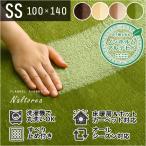 【送料無料】 高密度フランネルマイクロファイバー・ラグマットSSサイズ(100×140cm)洗えるラグマット 【ナルトレア】
