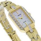 SEIKO(セイコー) SOLAR/ソーラー SUP236 パール MOP/ラインストーン ゴールド ステンレスベルト レディースウォッチ 腕時計