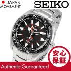 SEIKO (セイコー) SUN049 Kinetic/キネティック GMT メタルベルト ブラック メンズウォッチ 腕時計