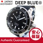 【DEEP BLUE (ディープブルー) 本格ダイバーズウォッチ】 MASTER 1000m防水 AUTOMATIC/オートマチック 自動巻き ブラック M1000-BK 腕時計