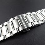 【316Lステンレスベルト 22MM/24MM/26MM】 T2N Strap T2N-3LBS 3LINK/3連 ブラッシュ/つや消し 観音開き プッシュDバックル シルバー 替えベルト 腕時計用