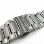 【316Lステンレスベルト 22MM/24MM/26MM】 T2N Strap T2N-3LBTI 3LINK/3連 ブラッシュ/つや消し 観音開き プッシュDバックル チタンカラー 替えベルト 腕時計用