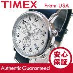 TIMEX (タイメックス) TW2P62100 Weekender/ウィークエンダー セントラルパーク クロノグラフ ミリタリー レザーベルト メンズウォッチ 腕時計 【あすつく】