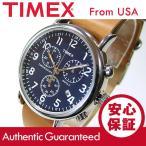 TIMEX (タイメックス) TW2P62300 Weekender/ウィークエンダー セントラルパーク クロノグラフ ミリタリー レザーベルト メンズウォッチ 腕時計