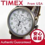 Timex (タイメックス) TW2P85300 Weekender Vintage Chrono/ウィークエンダー ヴィンテージ クロノ クロノグラフ レザーベルト メンズウォッチ 腕時計