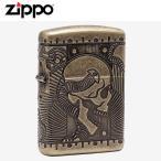 ZIPPO(ジッポー) 29268 STEAMPUNK SCULL/スカル Antique Brass/アンティークブラス マルチカット FULL SIZE ZIPPO LIGHTER/ジッポライター【あすつく】