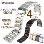 グーグッズ厳選高品質ステンレスベルト 取付幅18/20/22/24mm SB201