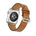 Apple Watch Band WollpoR 本革 交換バンド 高級 レザー ビジネス用 腕時計ベルト Real Leather Watchban