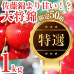 佐藤錦より甘い♪大粒2Lサイズ以上!ご贈答にも♪ [化粧箱入り] バラ詰め 1kg