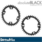 Absolute Black(アブソリュートブラック) ROV/4BK Oval 楕円チェーンリング ROAD 110PCD 4アーム用 ブラック