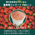 (16日 9:59まで4倍)香美苺のジエラート 6個セット(兵庫県但馬のイチゴを50%以上使用)