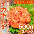 イカキムチ いかキムチ 1.5kg 500g×3パック たっぷり業務用の新鮮イカキムチ
