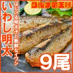 いわし明太子 3尾×3パック(明太子 めんたいこ)