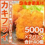 牡蠣フライ 手造りカキフライ 40個(1kg 500g×2 )