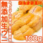 生ウニ 生うに 冷凍 無添加 天然 100g(ウニ うに 雲丹)