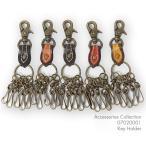 【メール便対応可】レザー キー ホルダー Leather Key Holder 07020001【本革】