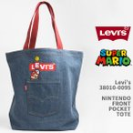Levi's リーバイス スーパーマリオ トートバッグ デニム LEVI'S x SUPER MARIO NINTENDO FRONT POCKET TOTE 38010-0095【国内正規品/手提げカバン】