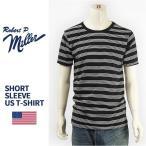 ショッピングアメリカ 【米国製・国内正規品】Miller ロバート ピー ミラー 半袖 ボーダー Tシャツ Robert P. Miller S/S TRIPLE PIN BORDER T-SHIRT 43006-09【MADE IN USA】