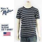 ショッピングアメリカ 【米国製・国内正規品】Miller ロバート ピー ミラー 半袖 ボーダー Tシャツ Robert P. Miller S/S TRIPLE PIN BORDER T-SHIRT 43006-87【MADE IN USA】