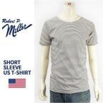 ショッピングアメリカ 【米国製・国内正規品】Miller ロバート ピー ミラー 半袖 ボーダー Tシャツ Robert P. Miller S/S PIN BORDER T-SHIRT 43007-02【MADE IN USA】