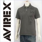 ショッピングプリント Avirex アビレックス ステンシル プリント ポロシャツ AVIREX S/S STENCIL POLO 6133121-73 半袖