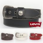 リーバイス・レザーベルト ループボタンデザイン・ステッチ・レザーベルト  /  40mm ( Levi's Leather Belt 70716091 )